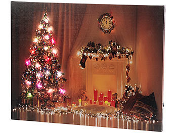 infactory weihnachtsbilder wandbild weihnachten mit farbwechselnder led beleuchtung 50 x 38. Black Bedroom Furniture Sets. Home Design Ideas