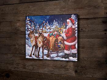 infactory led weihnachtsbilder led bild weihnachtsmann. Black Bedroom Furniture Sets. Home Design Ideas