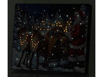 Weihnachtsbilder Mit Led.Infactory Led Weihnachtsbilder Led Bild Weihnachtsmann Mit