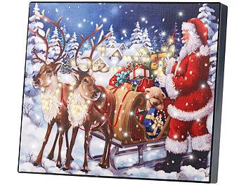 Weihnachtsbilder Mit Licht.Infactory Led Weihnachtsbilder Led Bild Weihnachtsmann Mit