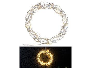 Led Weihnachtsbeleuchtung Für Fenster.Lunartec Led Kranz Led Lichterkranz Für Fenster Türen U V M 90