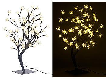 Lunartec Led Baum Klein Led Baum Mit 64 Beleuchteten Blüten