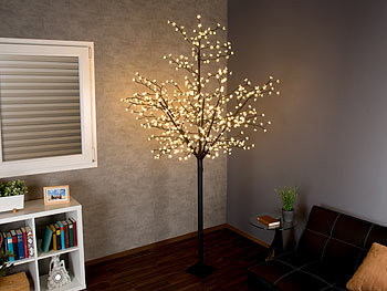 lunartec lichterbaum led deko baum mit 600 beleuchteten. Black Bedroom Furniture Sets. Home Design Ideas