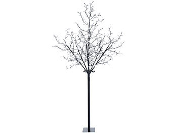 lunartec lichterbaum led deko baum mit 600 beleuchteten bl ten 250 cm f r innen au en led. Black Bedroom Furniture Sets. Home Design Ideas