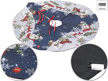 Hochwertige Weihnachtsbaum-Ständer-Decke mit LED-Lichtern, rund, 90 cm / Weihnachtsbaumdecke