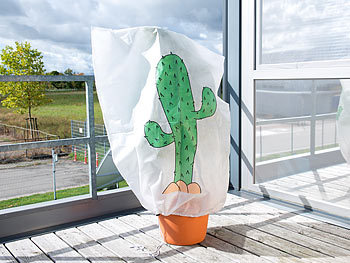 infactory pflanzen gewebe plane winterschutz haube kaktus f r pflanzen 110 x 120 cm. Black Bedroom Furniture Sets. Home Design Ideas