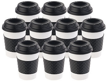 pearl tea to go becher 10er set coffee to go becher deckel 350 ml doppelwandig bpa frei. Black Bedroom Furniture Sets. Home Design Ideas