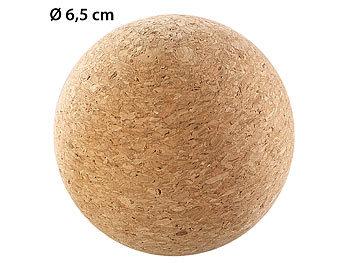 Massage-Ball und Faszien-Trainer zur Selbstmassage, aus Kork, Ø 6,5 cm / Faszienball