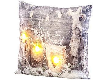 LED Sofa mit Winterlandschaft 22 cm x 15 cm batteriebetrieben Weihnachtsdeko