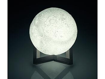 Lunartec Mondlampe: Deko Mond Leuchte mit LED