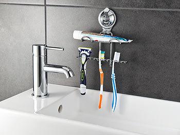 carlo milano zahnb rstenhalter zahnpasta zahnb rsten halter mit saugnapf halterung. Black Bedroom Furniture Sets. Home Design Ideas