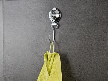 carlo milano handtuchhalter mit saugnapf halterung und 1. Black Bedroom Furniture Sets. Home Design Ideas