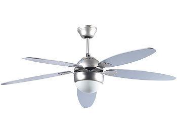sichler ventilator mit lampe gro er deckenventilator vt 997 m holzfl geln licht fernbed. Black Bedroom Furniture Sets. Home Design Ideas