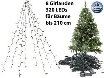 Lichterkette Weihnachtsbaum Außen.Lunartec Christbaum Led überwurf Weihnachtsbaum überwurf