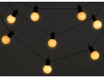 lunartec lichterkette outdoor led lichterkette mit 20 l mpchen 1 2 watt warmwei 475 cm. Black Bedroom Furniture Sets. Home Design Ideas