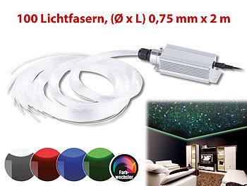 lunartec glasfaser licht glasfaser rgb led sternenhimmel mit fernbedienung und 100 lichtfasern. Black Bedroom Furniture Sets. Home Design Ideas