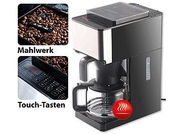 Rosenstein & Söhne Vollautomatische Filter-Kaffeemaschine ... | {Kaffeemaschinen mit mahlwerk 27}