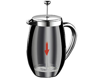 Rosenstein & Söhne Thermo-Kaffeebereiter, French-Press, Edelstahl, doppelwandig, 350 ml Rosenstein & Söhne Thermo-Kaffeepressen