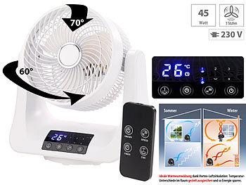 /Ø 21 cm Stand-Ventilator 45 Watt Sichler Haushaltsger/äte 3D Ventilator: Digitaler 3D-Robo-Raumventilator und Luftzirkulator