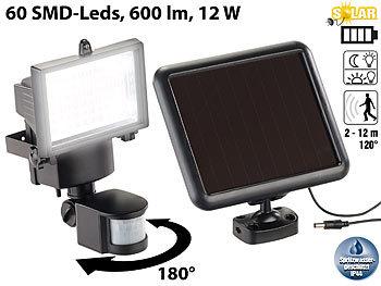 Solar-LED-Wand-Fluter für aussen, mit Bewegungssensor, 600 Lumen, IP44 | Solar Strahler