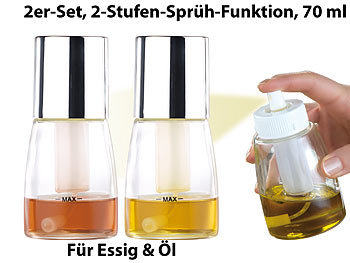 rosenstein s hne essig l spr hflasche mit 2 stufen spr h funktion 70 ml 2er set. Black Bedroom Furniture Sets. Home Design Ideas