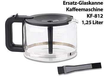 rosenstein s hne ersatz glaskanne f r filter kaffeemaschine kf 812 f 1 25 liter. Black Bedroom Furniture Sets. Home Design Ideas