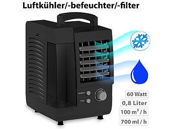 Sichler Haushaltsgeräte Kompakter 3in1-Tisch-LuftkÃhler, -Luftbefeuchter & -Luftfilter, 60 W Sichler Haushaltsgeräte 3in1-Tisch-LuftkÃhler, -Luftbefeuchter und Luftfilter