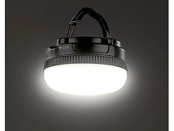 Luminea Campinglicht: LED Campingleuchte mit Aufhänge Bügel