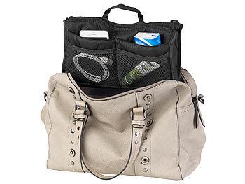 Handtaschen-Organizer m. 13 Fächern, 29 x 17 x 8 cm, waschbar, schwarz / Handtaschen Organizer