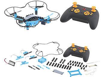 Quadrocopter-Bausatz, 38-teilig, 2,4-GHz-Fernbedienung, 3D-Flugmanöver / Drohne