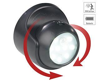 2 x LED Haus Wand Lampe Außen Tür Beleuchtung drehbare Spot Leuchte Hof Strahler