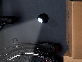 Luminea Lampen Batterie: 2er Set Kabellose LED Strahler