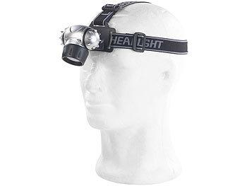 2x Stirnlampe mit 7 LEDs und 3 Funktionen Kopflampe mit verstellbarem Kopfgurt