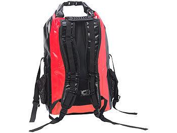 semptec rollbeutel rucksack wasserdichter trekking rucksack aus lkw plane 30 liter rot. Black Bedroom Furniture Sets. Home Design Ideas
