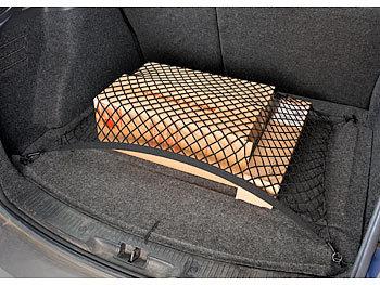 inkl 70 x 70cm dehnbar Klammern Lescars Universal Kofferraum Gepäcknetz