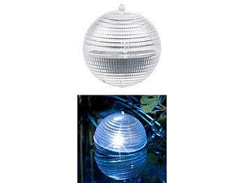 lunartec 3er set schwimmende led solar kugelleuchten f r garten teich pool. Black Bedroom Furniture Sets. Home Design Ideas