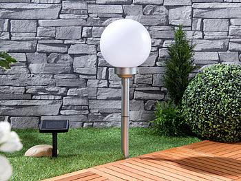 lunartec solar leuchtkugel 2er set solar led leuchtkugeln rotierender effekt erdspie 20. Black Bedroom Furniture Sets. Home Design Ideas