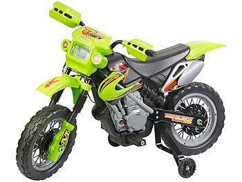 Kinder-Elektromotorrad mit Stützrädern, Licht- & Sound-Effekte, 3 km/h / Kindermotorrad
