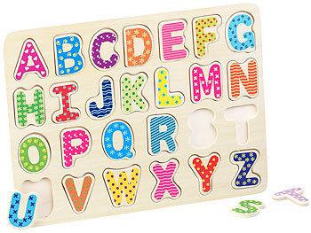 Playtastic Kleinkindspielzeuge Holz: 3er-Set bunte Kinder ...