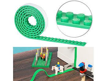 Selbstklebendes Spielbaustein-Tape für gängige Systeme, 1 m, grün / Spielzeug