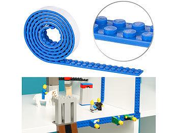 Selbstklebendes Spielbaustein-Tape für gängige Systeme, 1 m, blau / Spielzeug