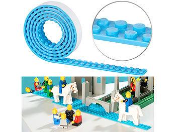 Selbstklebendes Spielbaustein-Tape für gängige Systeme, 1 m, hellblau / Spielzeug