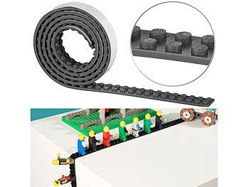 Selbstklebendes Spielbaustein-Tape für gängige Systeme, 1 m, schwarz / Spielzeug