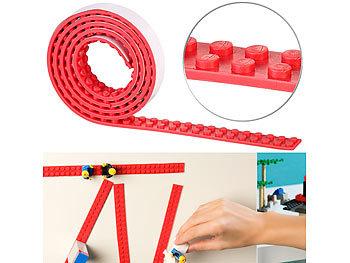 Selbstklebendes Spielbaustein-Tape für gängige Systeme, 1 m, rot / Spielzeug