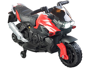 Kinder-Elektromotorrad mit MP3-Funktion, Sounds & Stützrädern, 3 km/h / Kindermotorrad