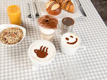 D 7I5 Edelstahl Schokolade Streuer Puder Zucker Kakao Zucker Cappuccino Filter