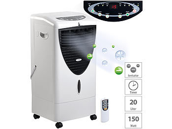 Verdunstungs-Luftkühler mit Oszillation & Ionisator, 20 Liter, 150 W / Luftkühler