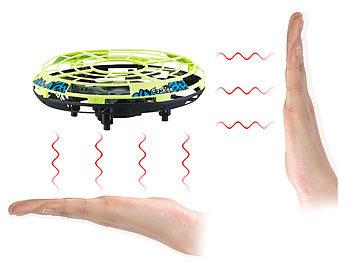 Selbstfliegendes Quadrocopter-Ufo mit Infrarot-Sensoren und LEDs / Drohne