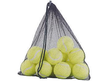 12er-Set Tennisbälle für Fortgeschrittene, 65 mm Ø, gelb, Tragenetz / Tennisbälle