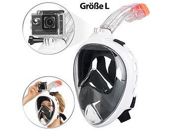 Tauchmaske mit Schnorchel und Action-Cam-Halterung, Grösse L / Masken